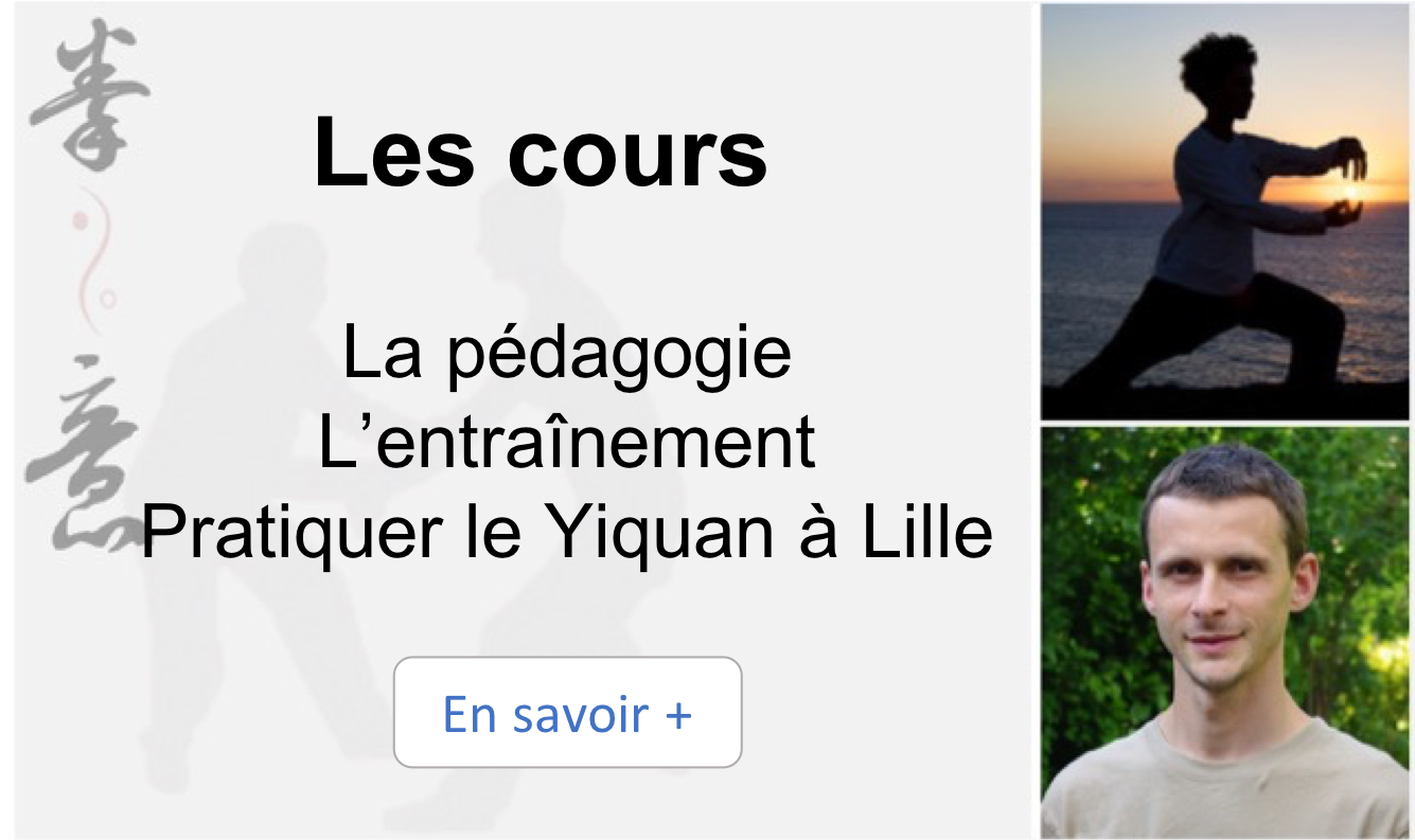 cours yiquan, kungfu, arts martiaux, lille, nord, France
